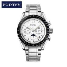 Спорт мужские Часы Автоматические Механические Наручные Часы Вневременной Классикой для Джентльмена PT6281G