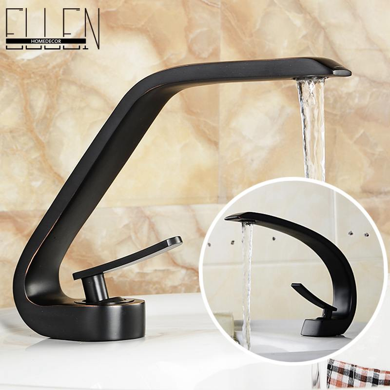 ФОТО Oil rubbed bronze bathroom faucets single handle hot and cold water bathroom sink black faucet