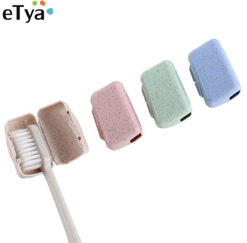 ETya 4 PCS Set Portable Travel Toothbrush Cover Wash Brush Cap Holder Box Travel Accessories
