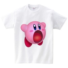 Funky T-Shirt Kirby Playing Game Boy Organnic Tees Cotton children Short Sleeve Shirt Hot Selling Funny T Shirts For Sale NN