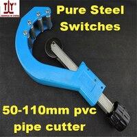 Envío libre herramientas del fontanero gama grande cortar hasta 110mm manual herramienta de plástico tubo de PVC cortador de tubo, herramientas de corte
