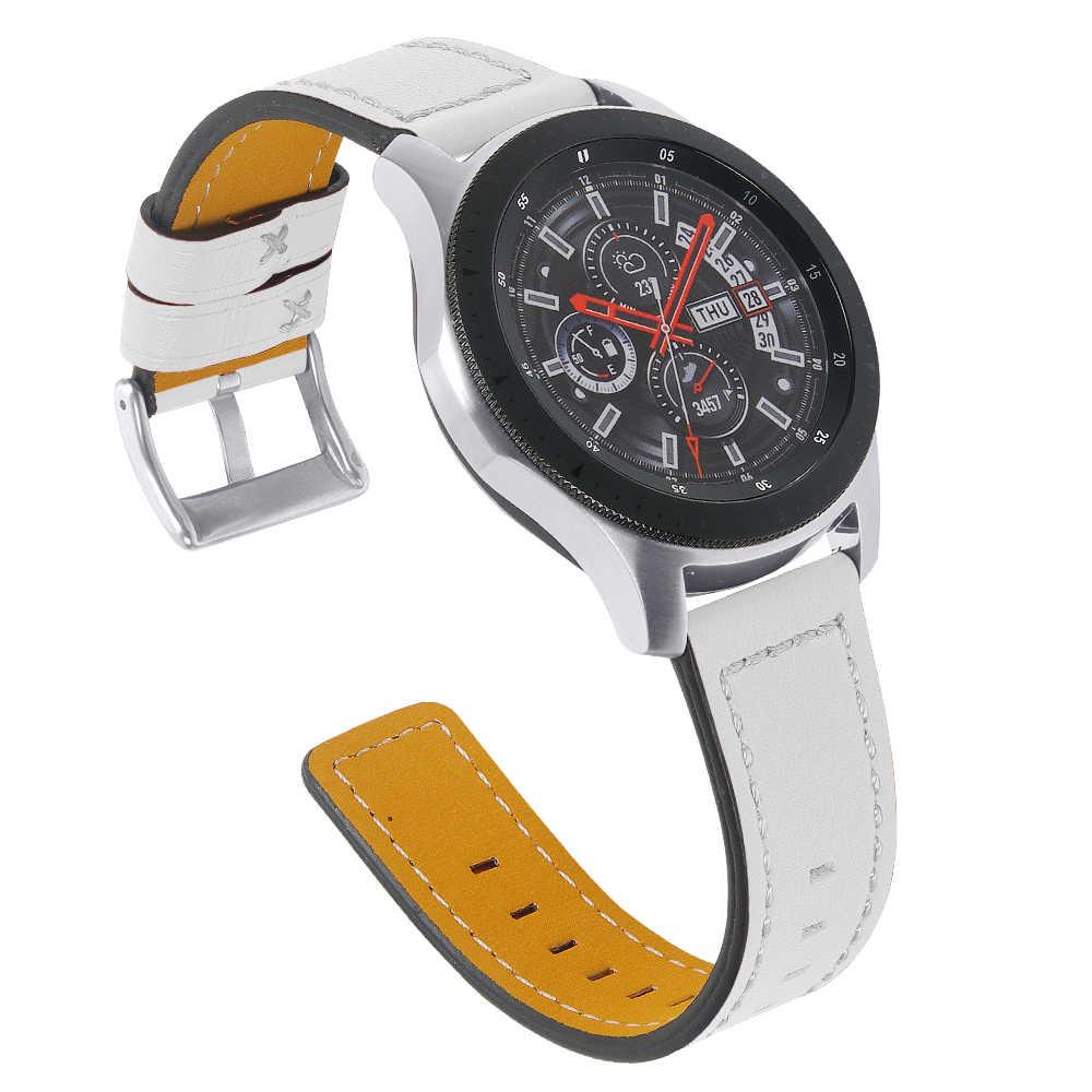 Joyzoy 22 مللي متر حزام ساعة اليد لسامسونج والعتاد S3 الحدودي/الكلاسيكية غالاكسي ووتش 46 مللي متر الفرقة جلدية مربط الساعة Huami Amazfit تيرة