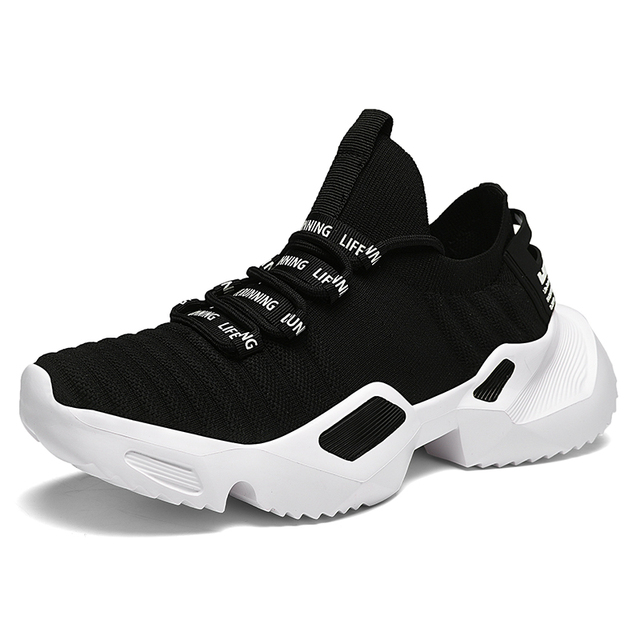 Ins Trend Sport Shoes Man Socks Shoes Man Running Shoes Outdoor Flying Weaving Non-slip Heighten Dad Sneakers Footwear zapatos 4