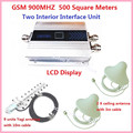 LCD Display!GSM 900Mhz Mobile Phone Signal Booster , GSM Signal Repeater , Cell Phone Amplifier + Yagi Antenna + ceiling antenna