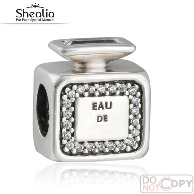925-Sterling-Silver Signature Scent Charms 2016 Mother's Day Gift Clear CZ Perfume For Women Bracelet Diy Jewelry Making BD363
