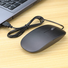 New Simple Ultra Thin Wired Mouse 3 buttons 1200DPI USB Optical Mouse for PC Computer Desktop Home Office zuntuo wired 1200dpi optical mouse black
