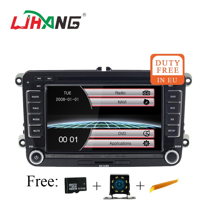 LJHANG Car DVD Player For VW Passat B6 Jetta VW T5 Tiguan Octavia Fabia SEAT Leon GOLF multimedia 2 Din Car Radio GPS Stereo RDS image