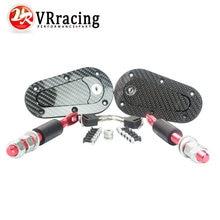 VR RACING-D1 Nuevo Universal Racing Lock Plus Kit Flush Capucha Pasador, de Fibra De carbono, JDM estilo con clave VR-BPK-D41