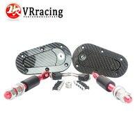 Vr Racing D1 Новый Универсальный Гонки Блокировка Плюс Флеш капюшон защелки КИТ, углеродное волокно, JDM СТИЛЬ с ключевыми VR-BPK-D41