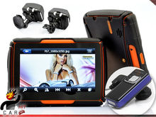 Waterproof Portable 4.3″ Touch Screen GPS Navi with Bluetooth Headset for Motorcycle Bike Car