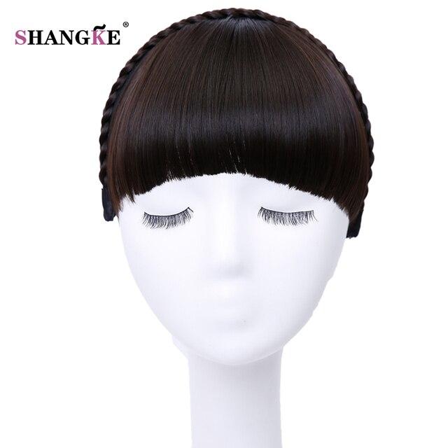 Shangke Kurze Haare Pony Hitzebeständige Synthetische Haarteile Haar