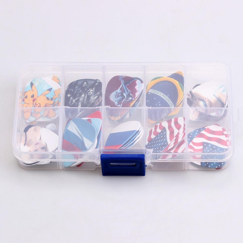 SOACH 50 STKS 0.46-1.0mm + 1 stks picks case box hoge kwaliteit twee - Muziekinstrumenten - Foto 4