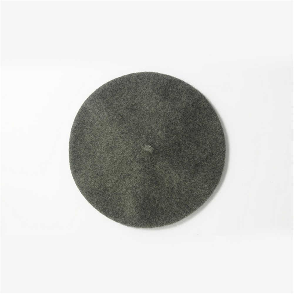 2020 หมวกสีดำหญิงสาววินเทจสตรีศิลปินฤดูหนาว WARM Light สีน้ำตาลธรรมดา Berets แฟชั่นสวมหมวกหมวก