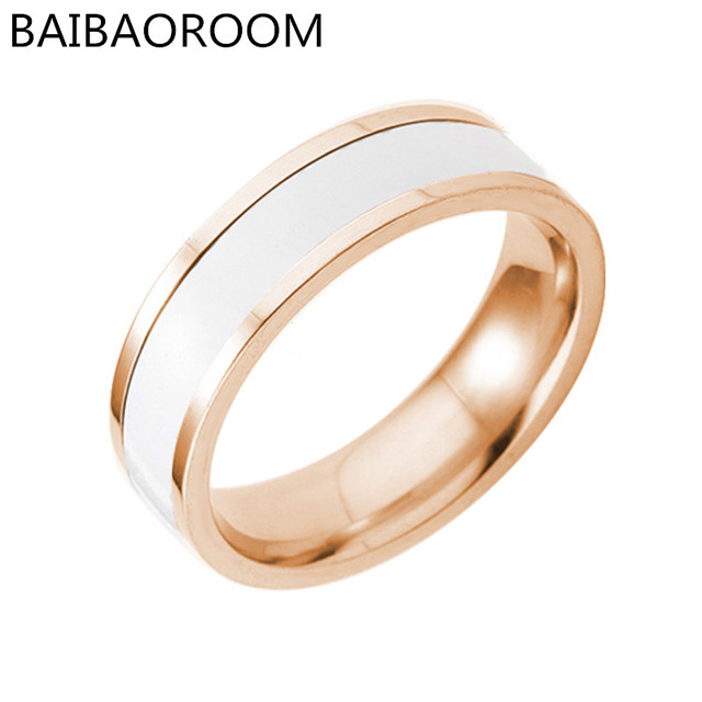 Fashion Jewelry Ring Black White Simple Titanium Steel Couple Rings For Women Me