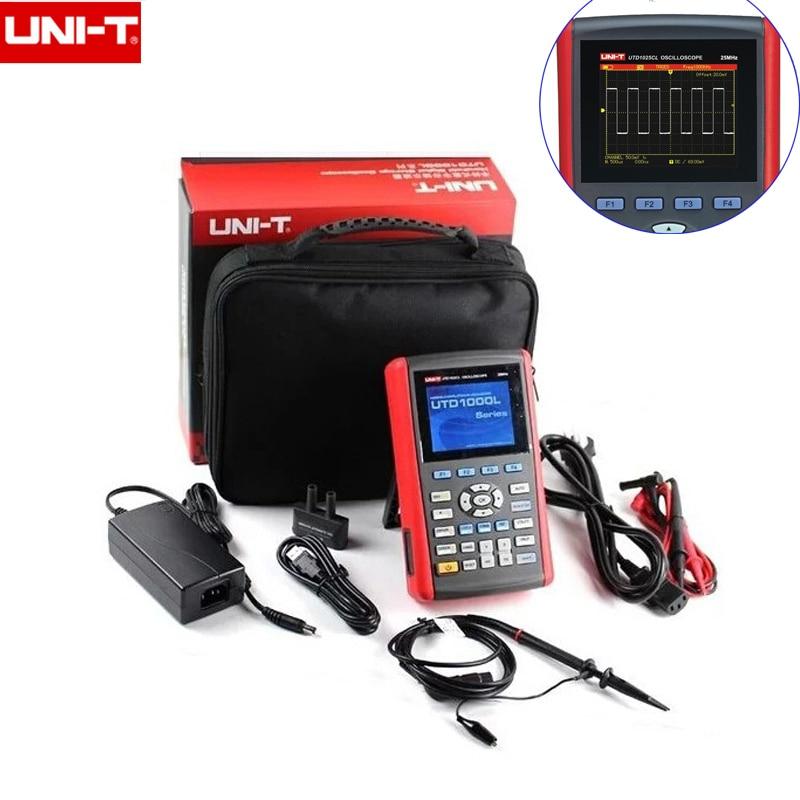 Portable UNI-T 1CH 3.5 LCD UTD1025CL/25MHz UTD1050CL/50MHz 200MS/s Digital Handheld Oscilloscope & Host Warranty 2 years