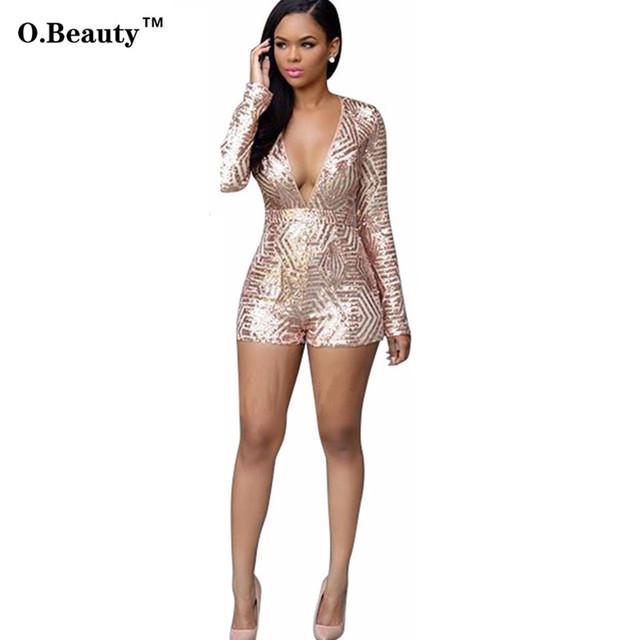 Sexy Macacão Elegante Macacão Mulheres Bodycon Jumpsuit Calções De Lantejoulas Casual Salopette Macacão Beyonce Catsuit Corpo Terno