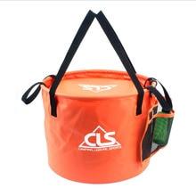 30L New outdoor folding bucket double drain basket washing dishwashing bucket camping telescopic fishing barrel fishing gear bag недорого