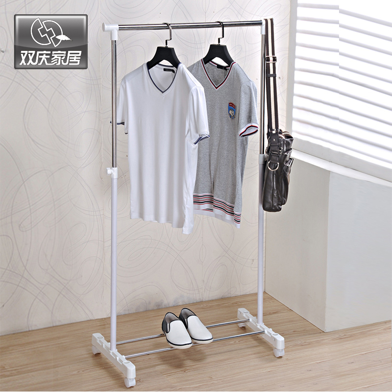 Metal hanger clothes hanging  drying rack single rail clothes rack stainless steel drying adjustable Outdoor coat rack rail h2wy d 40 stainless steel dual layer peg hanger for clothes socks silver 20 clip