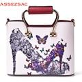Assez мешок моды женщин сумки кожаные сумки дамы сумка сумки на ремне, crossbody сумки bolsas feminina сцепления LS7496