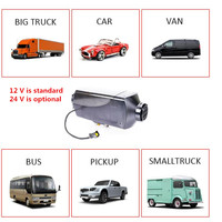 fast heater in car 5kw diesel oil engine parking diesel air heater flat with remote control and LCD display for 12 V car styling