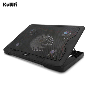 Image 5 - 5 LED Fans Plastic Notebook Cooling Pad 6 Steps Adjustable Tablet Laptop Cooler Suit For 15.6 Inch And Below With 2 USB Port