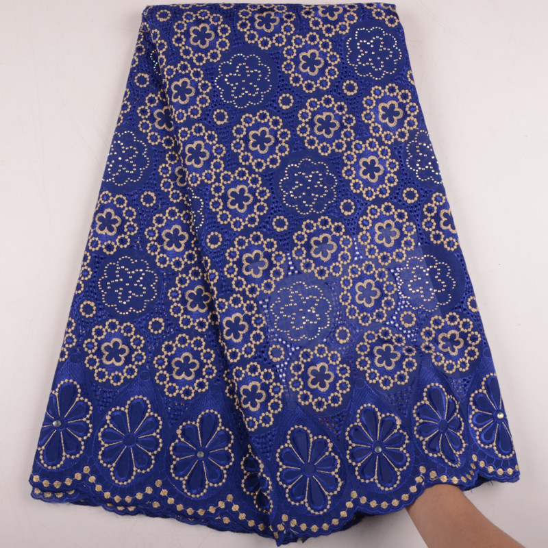 African Cotton Lace Fabric 2019 High Quality Lace Swiss Voile Lace In Switzerland Nigerian Lace Stones