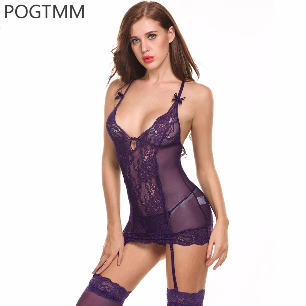Frauen Sexy Dessous Kostüme Erotische Unterwäsche Babydoll Nachtwäsche Sexy Unterwäsche Exotische Damenbekleidung Babydolls Und Hemden