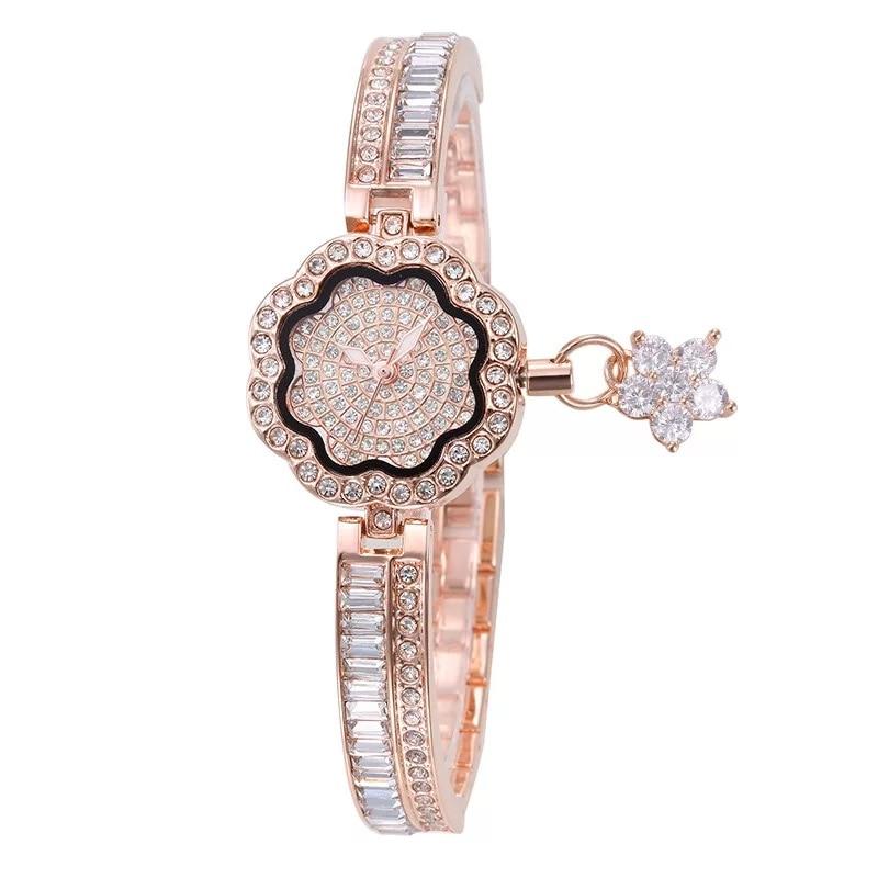 Cacaxi Elegant Jewelry Watch Women Crystal Ladies Luxury Dress Wristwatches Platinum 18K Gold Plated Clock Relogio Feminino