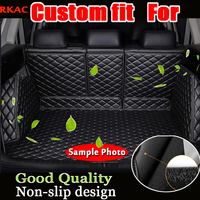 Rkac custom fit автомобиля полный материалы ствола для Audi A1 A3 A4 A6 A8 Q3 Q5 Q7 3D автомобиль Стайлинг любую погоду лоток ковер грузового лайнера стикер