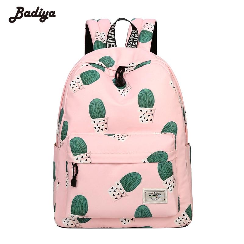 Cactus Printing Fashion New Backpack Female Travel Multi-functional Shoulder Knapsacks Teenager Girls School Bags Bolsas Mochila