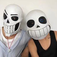 Hot Game Undertale Mask Full Head Masks Hard Latex Cosplay Sans helmet Halloween Masquerade Anime Mask for Adults Party Props