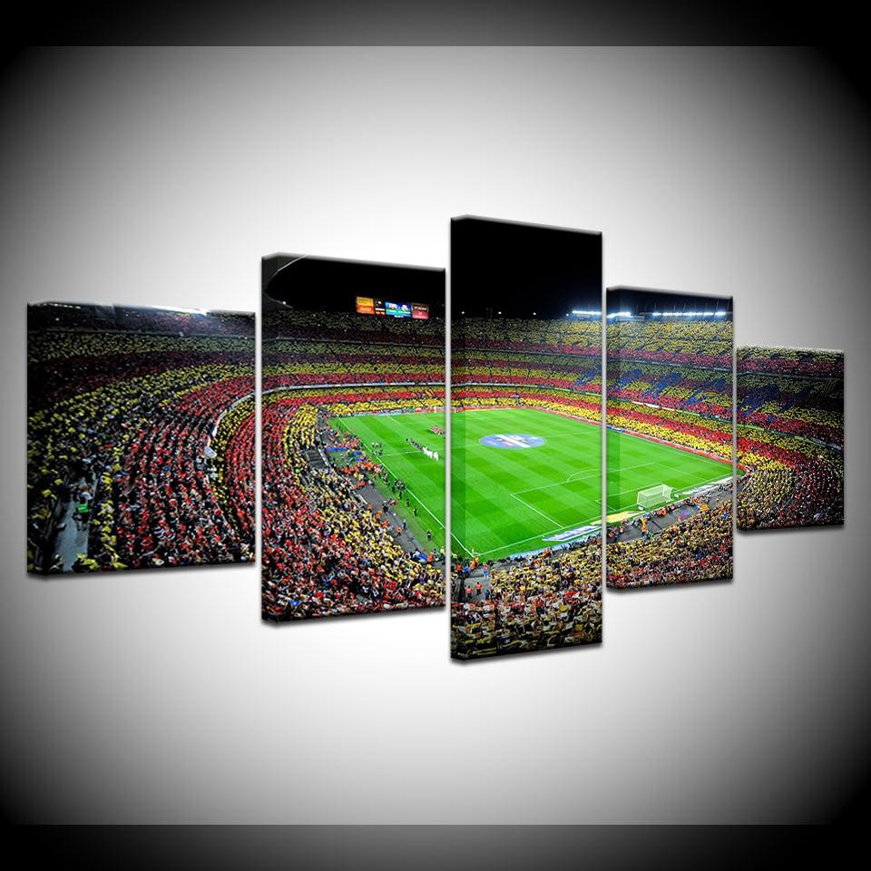 キャンバス絵画スペイン Fc バルセロナスポーツサッカー 5 個壁アート