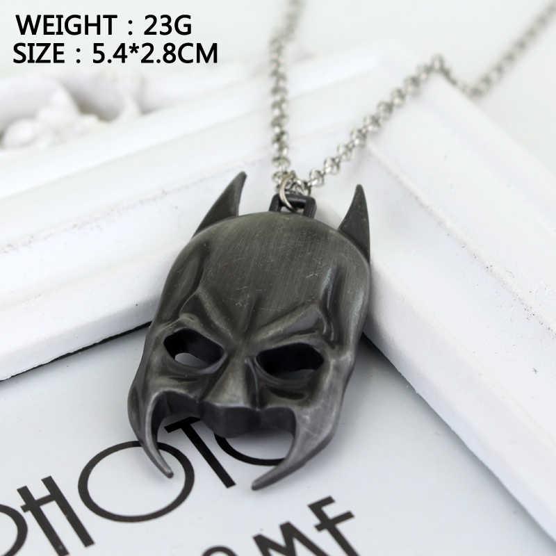 HANCHNAG biżuteria film o superbohaterach Batman maska wisiorek naszyjnik mężczyźni chłopiec film Hip hop naszyjniki boże narodzenie Party Cosplay prezent