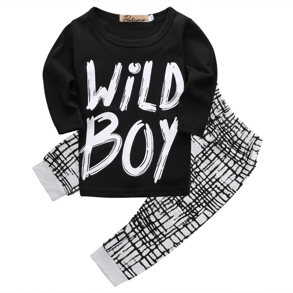 2017 autumn baby boy clothes Long sleeve Top + pants 2pcs sport suit baby clothing set newborn infant clothing bebe cute newborn infant baby girl boy long sleeve top romper pants 3pcs suit outfits set clothes