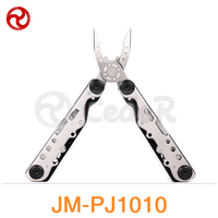 JAKEMY 10 In 1 Multifunctional Pliers Outdoor Portable Army Knife Crimping Tool Folding Blade Survival Tool