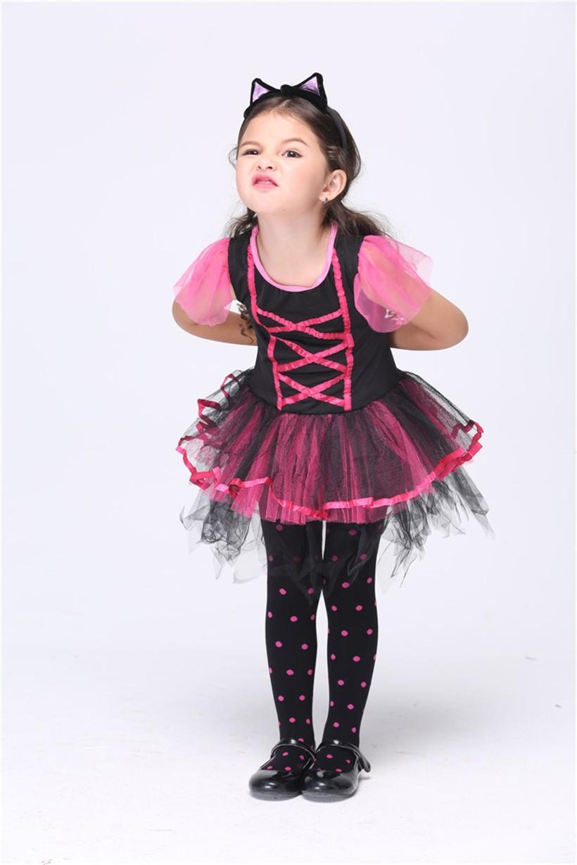 59eae7ca7e6a 2019 SS Little Leopard Print Costumes Fancy Princess Dress New Year  Halloween Christmas Girls Cat Cosplay Uniform