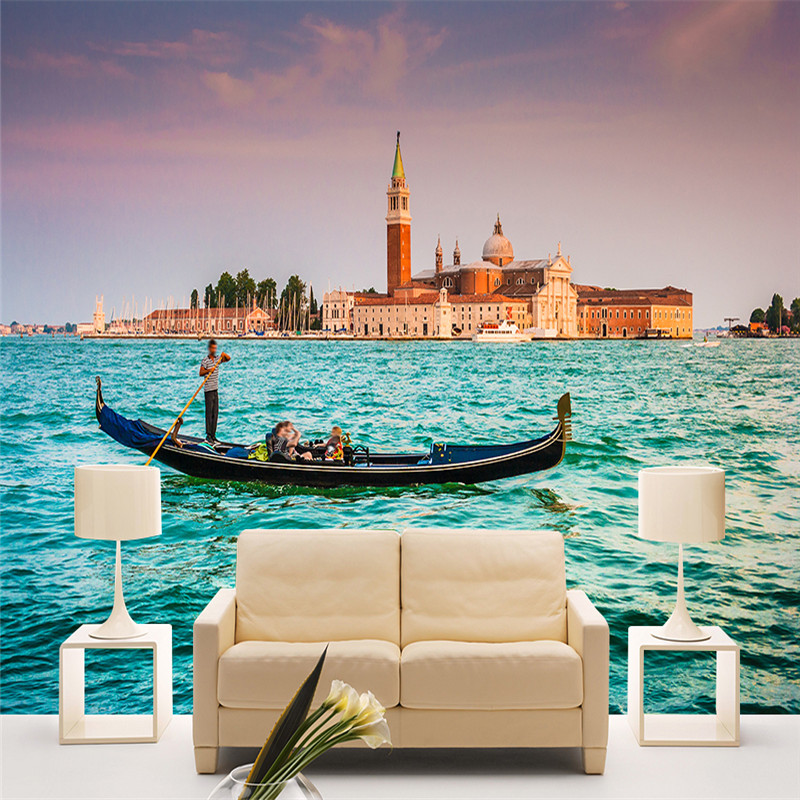 Custom Photo Murals 3D Nature Painting Wallpapers Landscape Walls Papers with River City Pictures for Living Room TV Home Decor custom photo size wallpapers 3d murals for living room tv home decor walls papers nature landscape painting non woven wallpapers