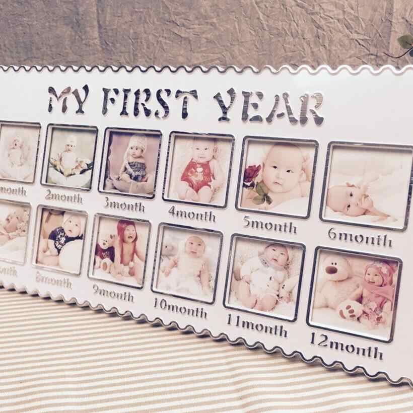Kids Born Commemorate Pictures Frames Children 12 months Growth Record DIYl Collection Imprint Photo Picture Frame of Siam D10