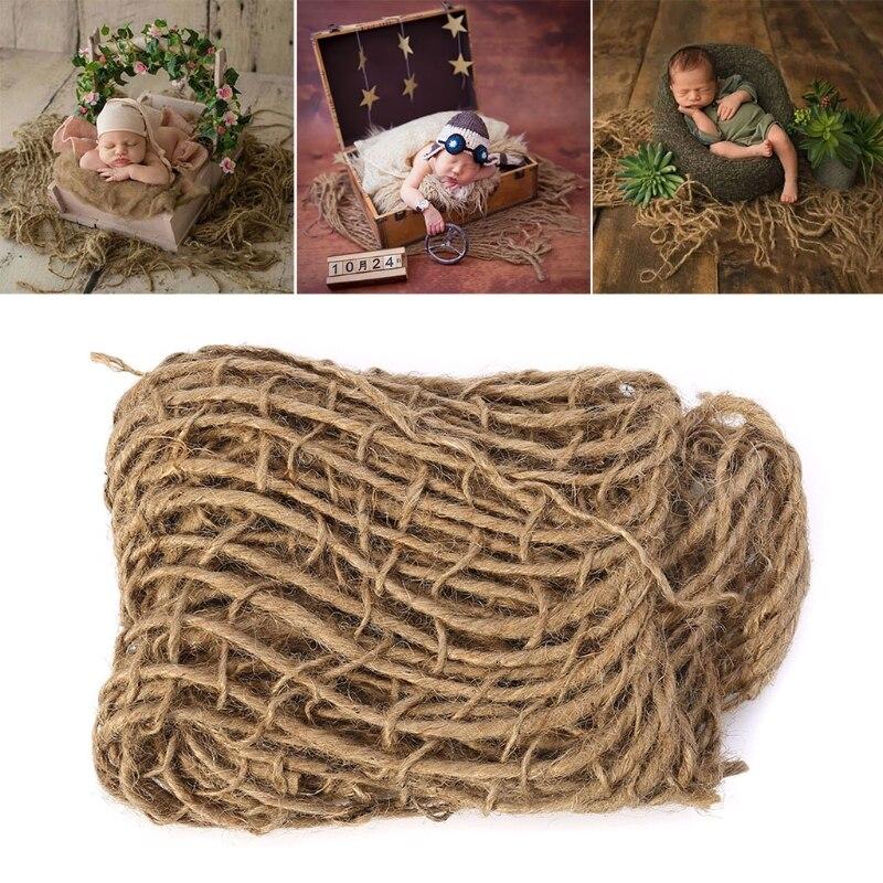 Neugeborenen Fotografie Prop Chunky Sackleinen Schicht Net Hessischen Jute Hintergrund Blanket-m20 Delikatessen Von Allen Geliebt