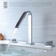 HPB Widesrpead Estilo Europeo Grifo de Lavabo, Mezclador de Baño del Grifo de la Manija Dual de Tres Agujero Montado Cubierta Caliente Y Agua Fría HP3209(China (Mainland))