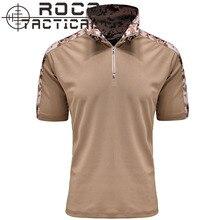 Herren Quick Dry 100% Coolmax Atmungs Tarnung Taktische Frosch Shirts Kurzarm Militär Kampf t-Shirts 10 Taktische Farben