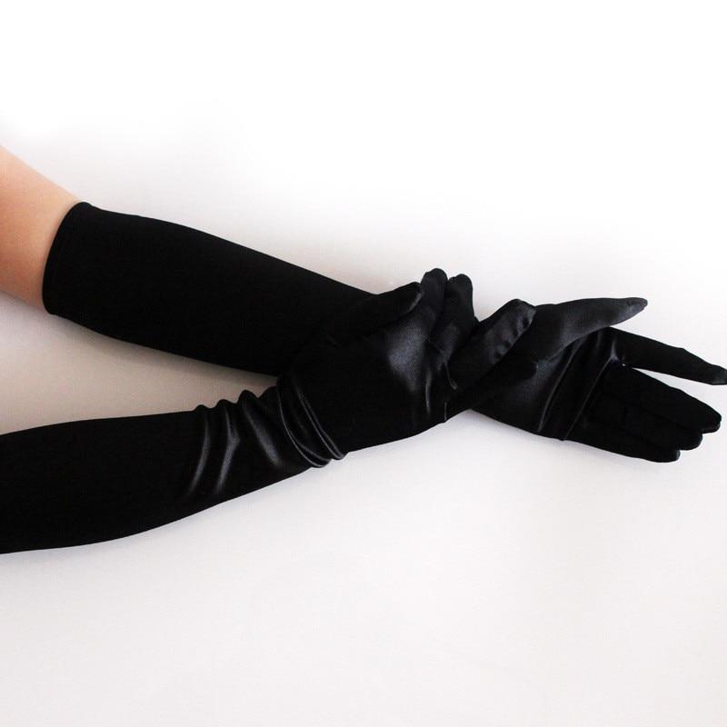 "16/"" Long Satin Stretch Gloves Bridal Prom Wedding Formal Evening Party Opera"