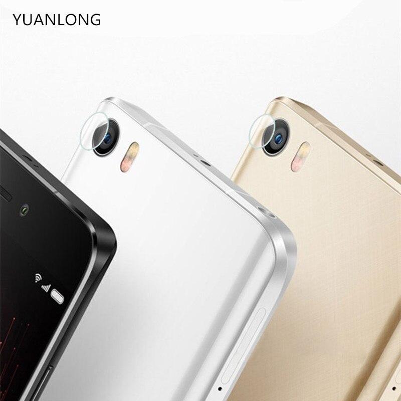 YUANLONG 2PCS Back Camera Lens ScreenTransparent Tempered Glass Protector Film For Xiaomi Mi 5 5S Plus 5X 6 Redmi Note 4 4X Pro