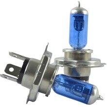 2 個 Safego H4 キセノンハロゲンヘッドライト電球 H4 100 ワット高低ビームウォームホワイト 4300 18k h4 p43t 100 ワット/90 ワット交換ライトランプ