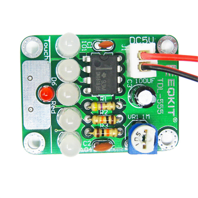 DIY Kit Touch LED Light Kit Touch Delay Lamp Electronic Parts Production Kit DC 5V adjustable 3s to 130s Adjustable