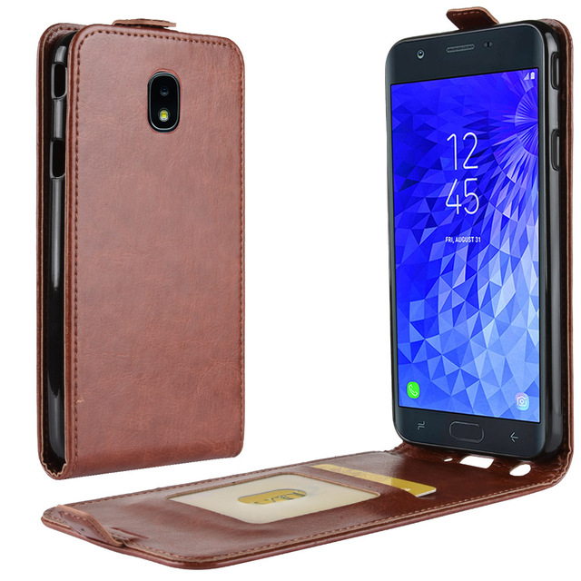 purchase cheap 70263 5c033 US $4.98 30% OFF|case for Samsung Galaxy J7 2018 leather case Magnetic  buckle Holster flip case Protective Case fundas coque-in Flip Cases from ...