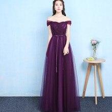 Grape Purple Off The Shoulder Sleeveless Bridesmaid Dress Wo