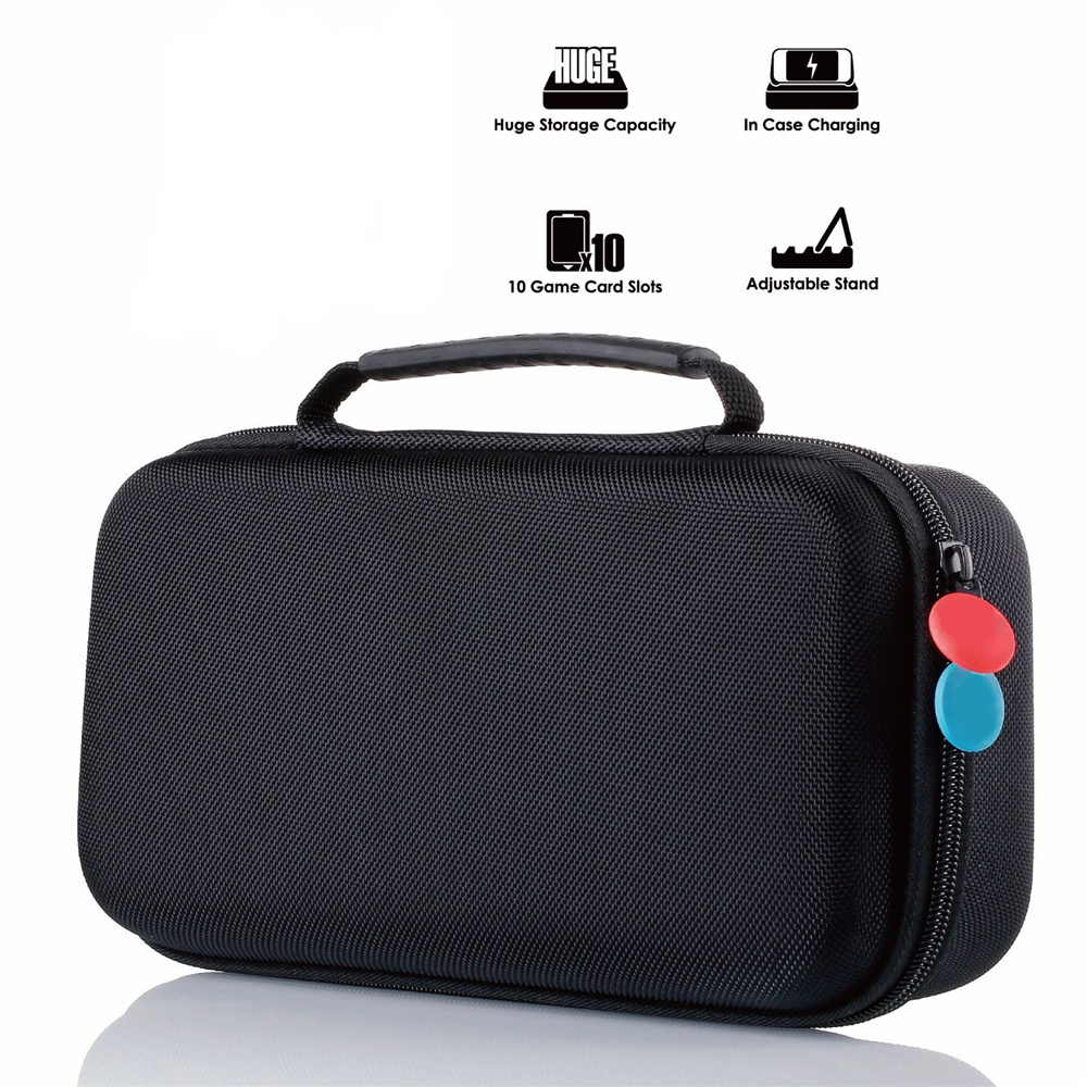 Portable Case for Nintend Switch Game Console Joy con Grips Game Cards 3DS XL Hard Shell Carrying Case Protective Storage Bag