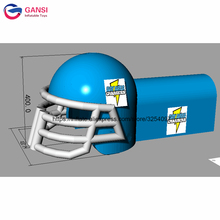 цена на 7m long inflatable entrance tunnel canopy garage tent ,inflatable helmet tunnel for football sport games