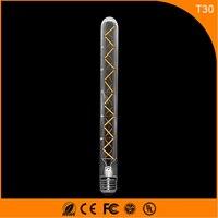 50 шт. 6 Вт E27 B22 Светодиодные лампы Винтаж Эдисон света, t30 COB нити свет Ретро Лампа AC 220 В